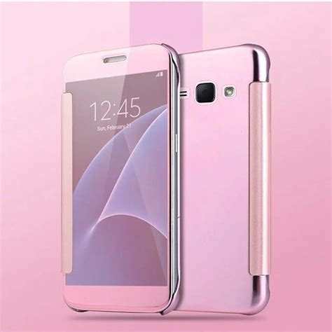 Samsung J2 Prime Smart Flip Slim View Electroplating Mirror T19 1 for samsung galaxy a5 a3 a7 j1 j5 j7 s6 s7 edge smart
