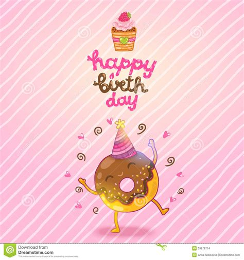 Happy Birthday Doughnuts by Birthday Clipart Donut Pencil And In Color Birthday