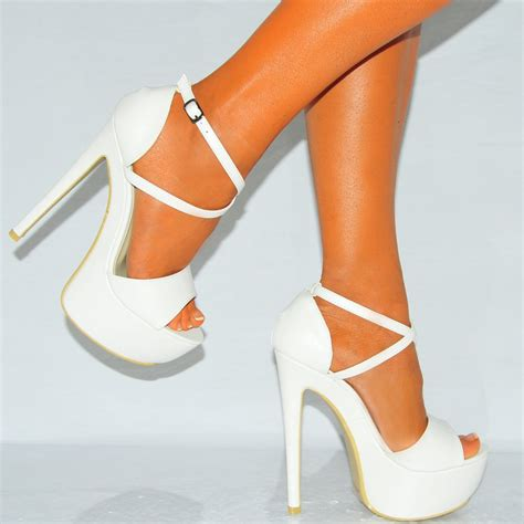 white strappy high heel sandals womens white strappy sandals platforms high heels shoes