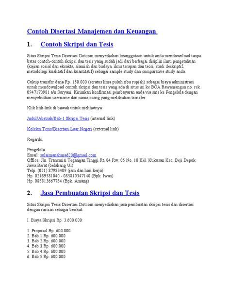 tesis akuntansi manajemen contoh proposal tesis manajemen keuangan