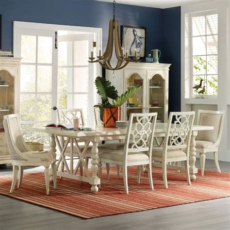 coastal dining room tables hooker furniture sandcastle 7 piece coastal dining set