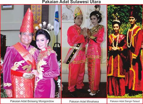 Kain Bahan Tille Seribu Mutiara pakaian adat sulawesi utara lengkap gambar dan penjelasannya