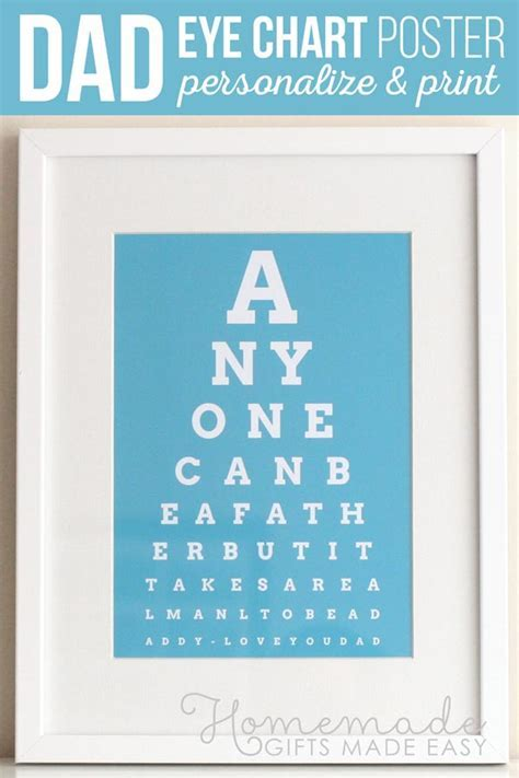 DIY Eye Chart   Personalized Father's Day Gift