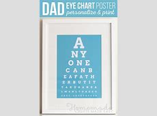 DIY Eye Chart - Personalized Father's Day Gift Xmas Ornaments To Make