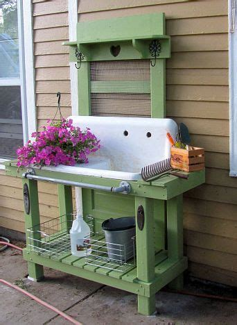 old door potting bench old door old sink potting bench all decked out