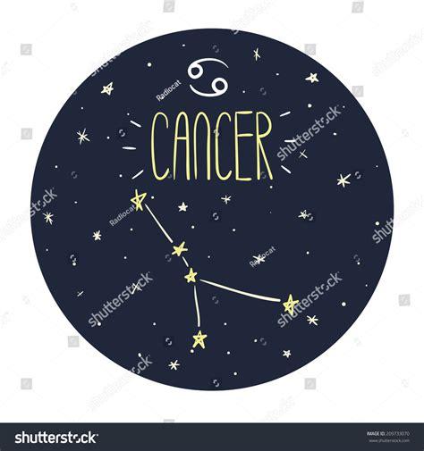 doodle zodiac zodiac signs doodle set cancer stock vector 209733070