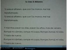 Tu Eres El Alfarero (with Lyrics) - YouTube Joel Lyrics