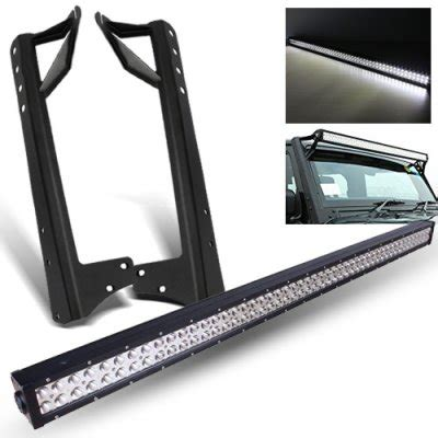 jeep jk light bar brackets jeep wrangler jk 2007 2016 led light bar with mounting
