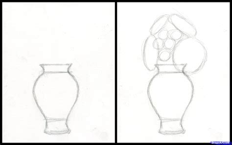 Flower Vase Drawing Step By Step by How To Draw Realistic Flowers Step By Step Realistic