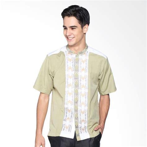 Bordir Kemeja jual batik distro bordir kemeja pria koko k8074 hijau