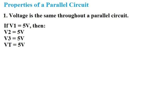 parallel circuits same voltage chapter 4 parallel circuits power dissipation in a parallel circuit
