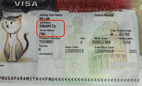 given name vs surname no surname in passport fnu in us visa life in us is