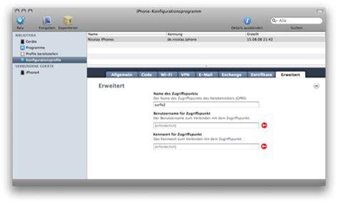 iphone configuration utility tutorial umts bzw edge einstellungen da mach ich mir n profil