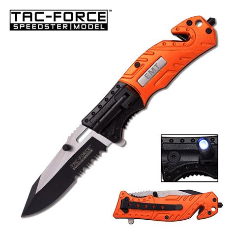 assisted tactical knives tac assisted tactical knife with led light emt