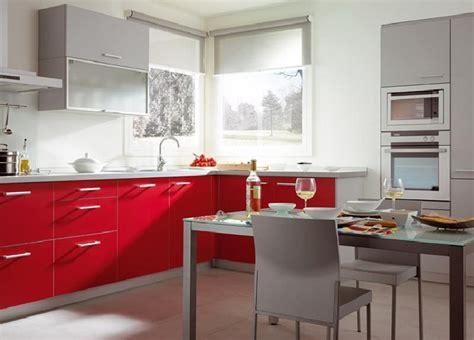 imagenes de cocinas integrales rojas cocinas rojas gris decorar tu casa es facilisimo com