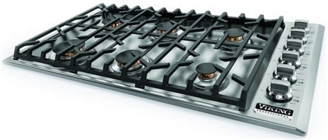 36 propane cooktop vgsu5366bsslp viking professional 5 series 36 quot gas cooktop