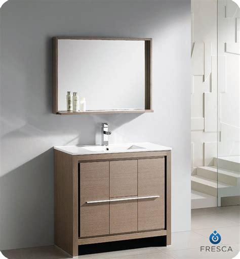 36 Modern Bathroom Vanity Fresca Allier 36 Quot Modern Bathroom Vanity Grey Oak Finish