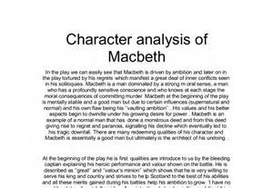Character Analysis Essay by Character Analysis Of Macbeth A Level Marked
