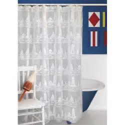 Sailboat Shower Curtains Lighthouse And Sailboat Shower Curtain
