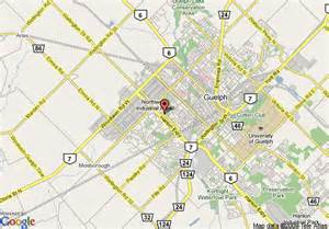 map of comfort inn guelph guelph