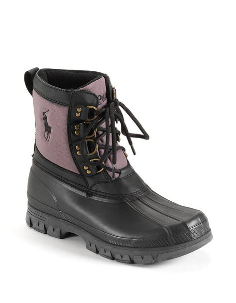grey polo boots polo ralph crestwick hiking boots in gray for