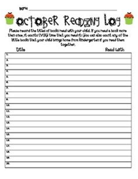 printable monthly reading log for kindergarten printable monthly reading log for kindergarten best