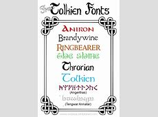 Free Tolkien Fonts Elven Numbers
