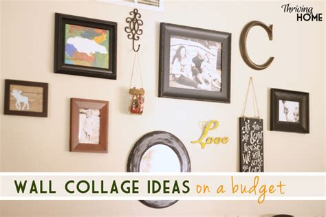 Lodge Themed Home Decor wall collage on a dime thriving home