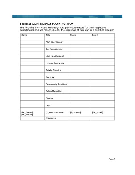 sle business continuity plan template 28 images 28
