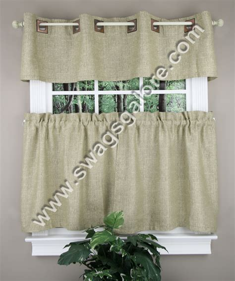 cafe tier curtains hudson kitchen curtains taupe achim cafe tier curtains