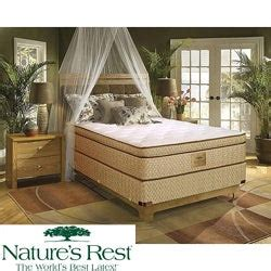 shop natures rest  spring air stratton euro top zoned latex foam california king size