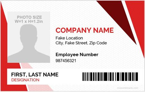 Identity Card Template Word by 5 Best Employee Id Card Format In Word Microsoft Word Id