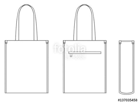 Tote Bag Vector Template Eco Textile Tote Bag Vector Illustration Shopper Good Branding Design Tote Bag Template
