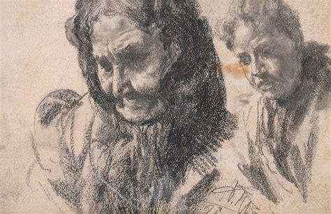 study   female figures adolph von menzel