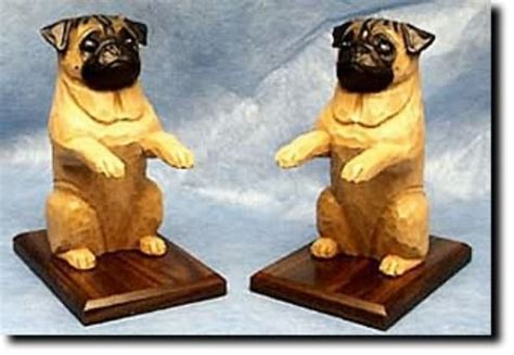 pug book ends pugs dogbreed gifts miscellaneous pug gifts