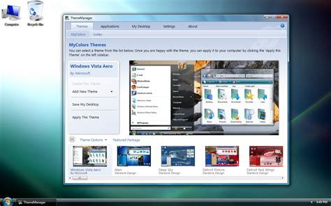 pc themes creator software theme manager 3 0 screenshots
