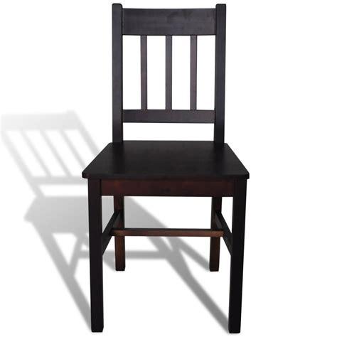 tavola e sedie articoli per sedia da tavola legno marrone 2 pz vidaxl it