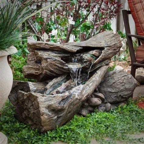 garten wasserfall bauen 885 rustikal wasserbrunnen design idee garten