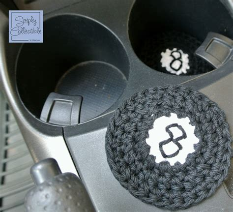 pattern holder 8 ball applique or coaster crochet pattern simply