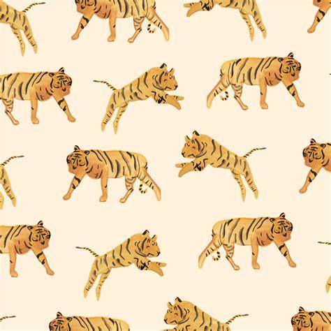 pattern illustrator tiger tiger pattern by sara combs pinteres
