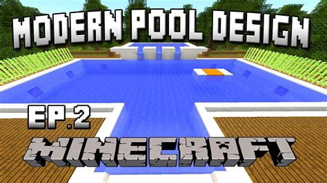 how to build a pool house minecraft tutorial how to build a modern swimming pool house building project part 31 youtube