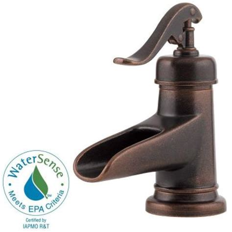 bathroom water faucets pfister ashfield 4 in centerset single handle bathroom
