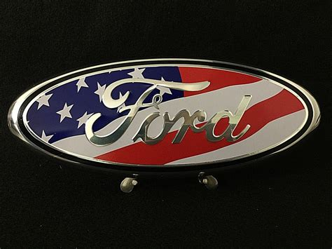Ford F150 Emblems by New Custom Made American Flag 2004 15 Ford F150 Grill