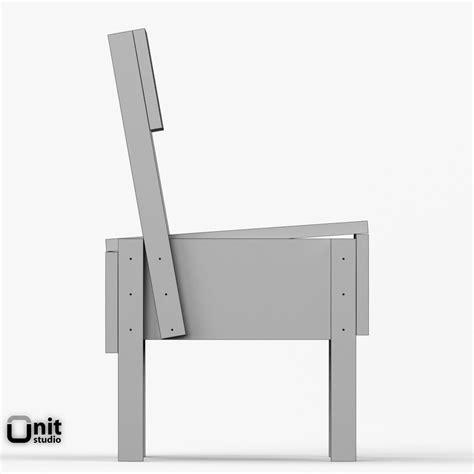 sedia 3d artek sedia 1 chair 3d model max obj 3ds fbx dwg