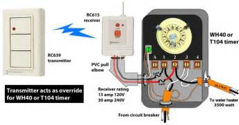 how to wire wh40 water heater timer and intermatic timer wiring diagram techunick biz