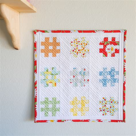 Starting A Quilt by Tic Tac Toe Mini Quilt Starting A Mini Quilts Wall