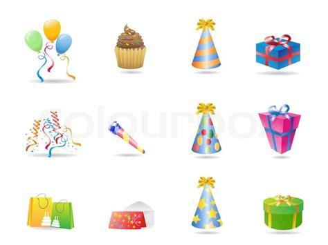 clipart compleanni dessert veranstaltung icons vektorgrafik colourbox