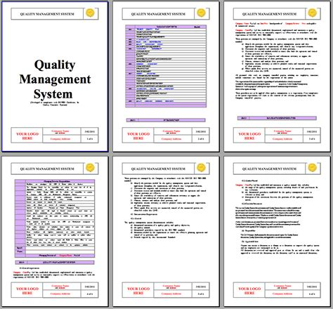 supplier quality manual template best photos of iso 9000 procedure format standard