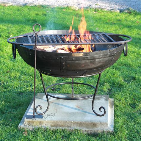 Indian Fire Bowl With Rack And Ash Rake By Firepits Uk Firepits Uk