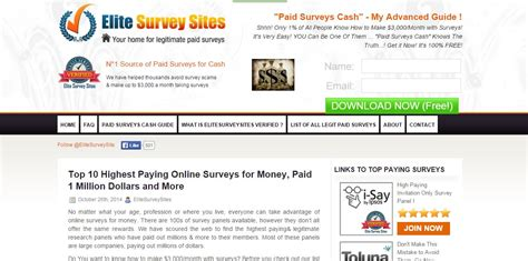 Free Survey For Money - survey money making sites earn money doing online surveys australia
